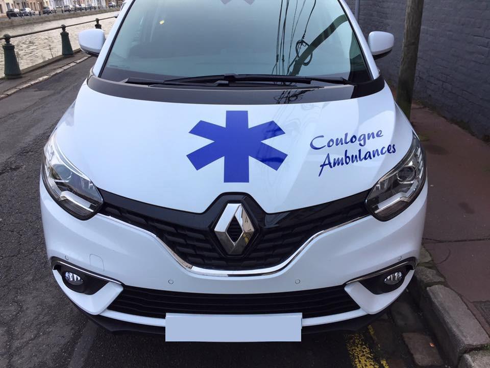 Des véhicules propres et désinfectés après chaque déplacement à Calais (62) | Coulogne Ambulances